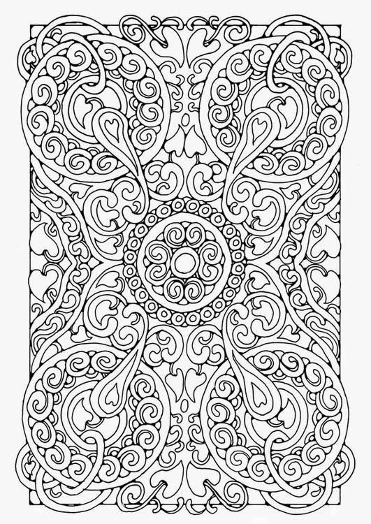 Coloriage Mandala Difficile Fleur.Mandala Difficile Dessin Complique Mandala Pour Adultes