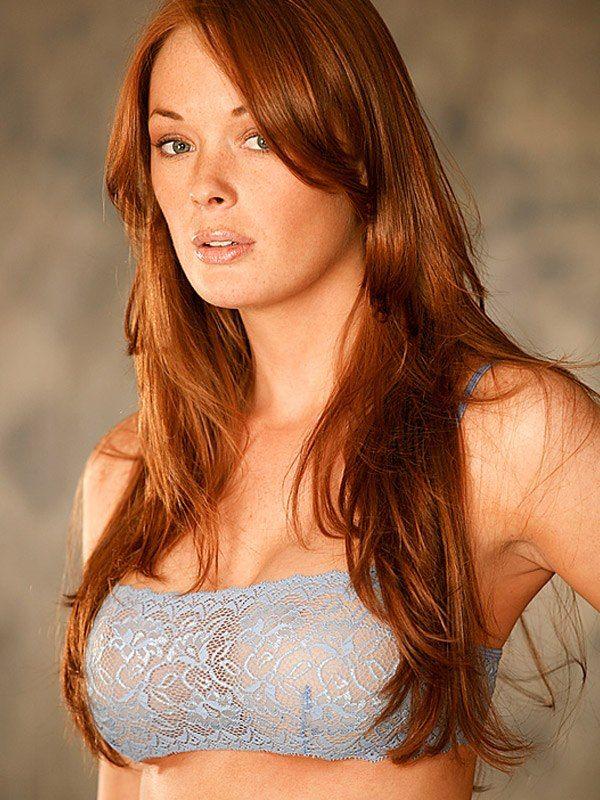 Redhead girl bra
