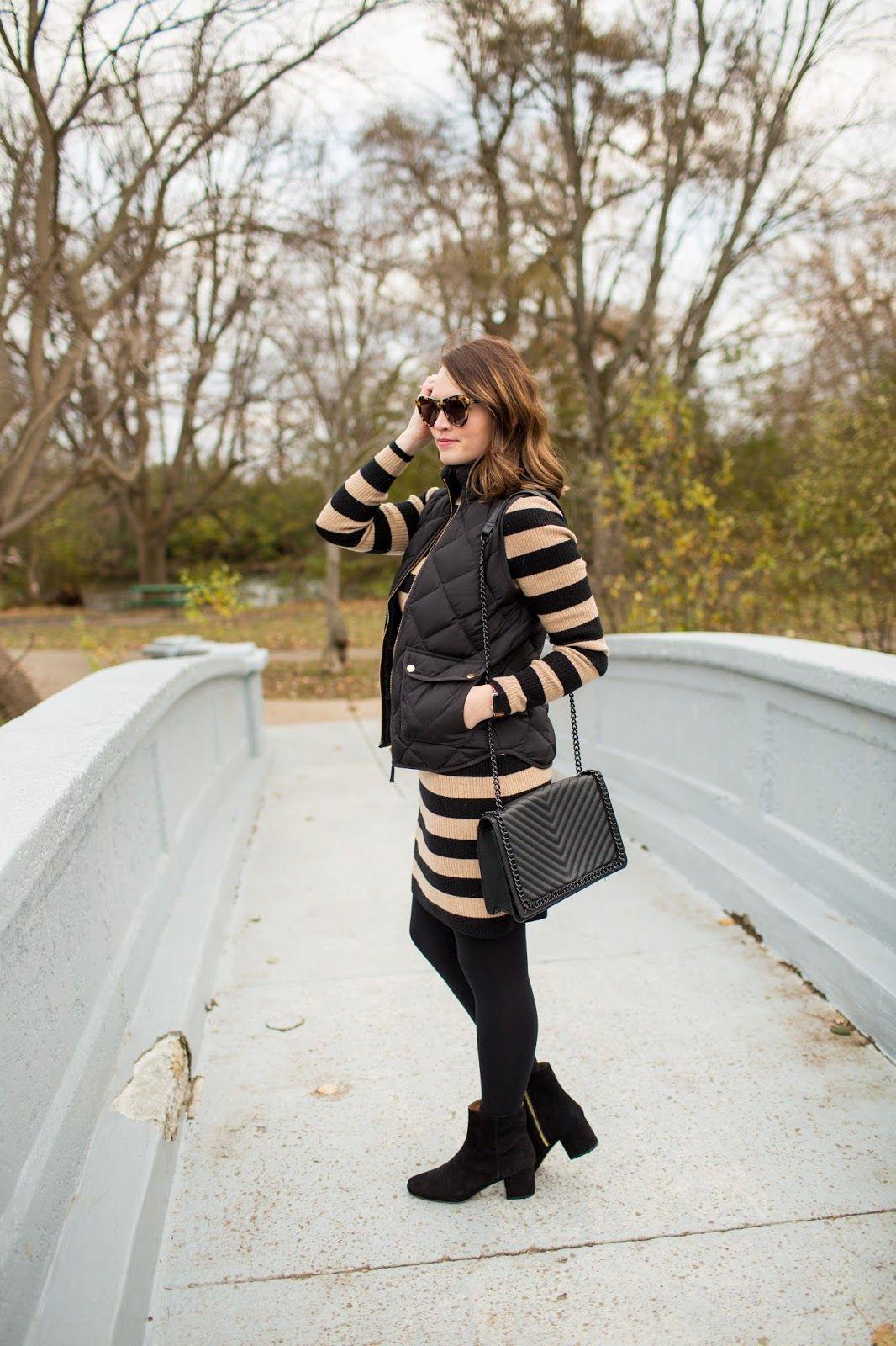 5d94ec60f3da7d 5 Easy Ways to Layer Up a Dress to Keep Warm for Winter! | { winter ...