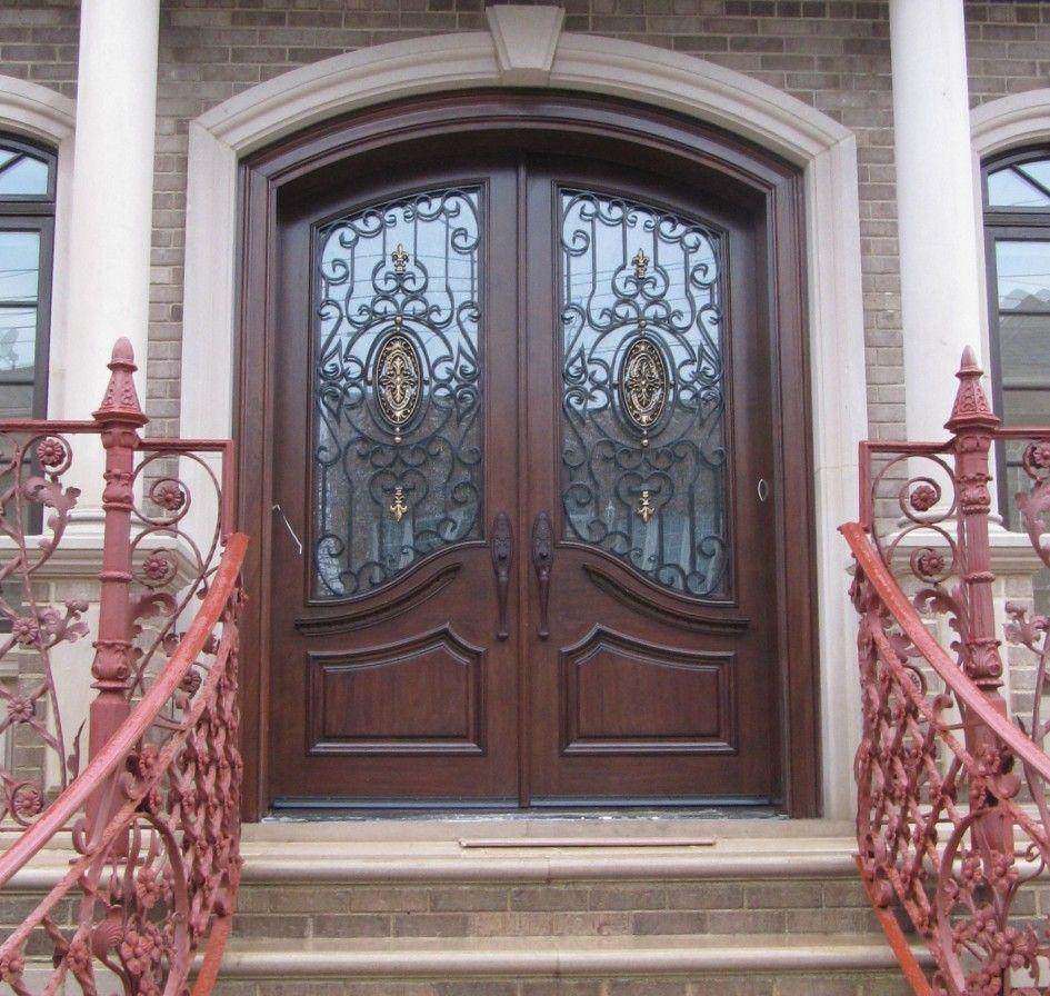 Doors Design: Inspiring Double Fiberglass Entry Door As Furniture For