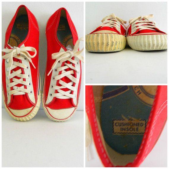 9c535b52f5d562 1950s Men s Canvas Sneakers ... Vintage 50s by bottleblondevintage ...