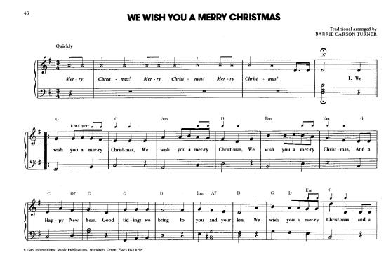 We Wish You A Merry Christmas >>> KLICK auf die Noten um Reinzuhören <<<