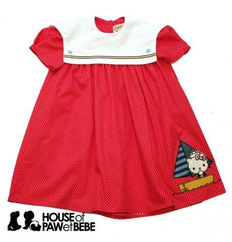 Hello Kitty Girl Red Polka Dot Dress