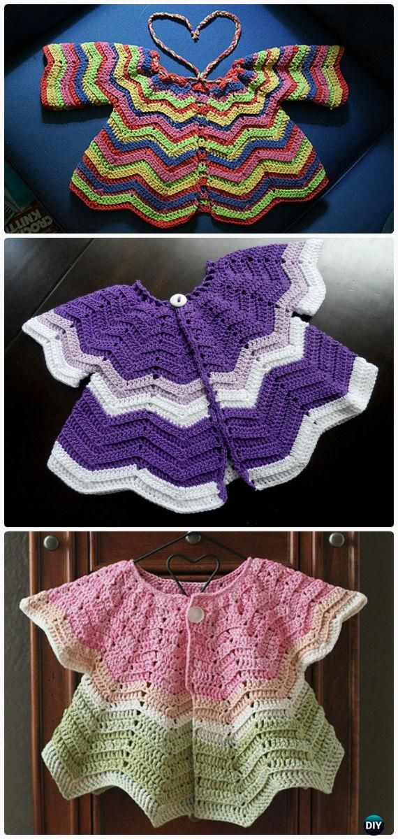 Crochet Baby Chevron Cardigan Free Pattern - Crochet Kid\'s Sweater ...