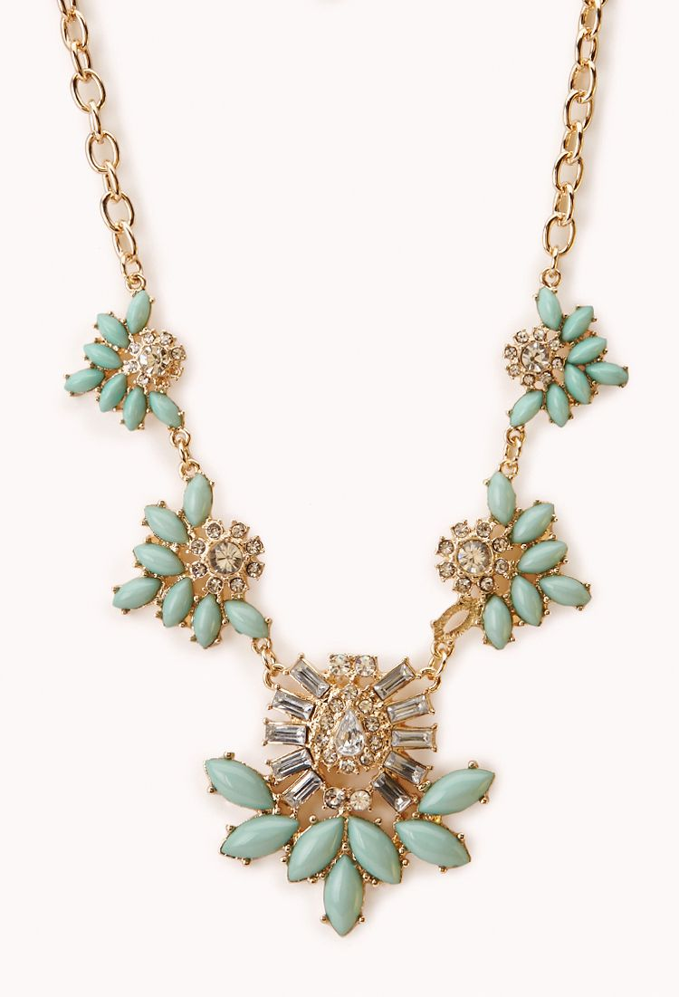 Charmed Faux Stone Bib Necklace   FOREVER21 - 1000072340