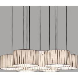 Arturo Alvarez 7-flg. Designer-Hängeleuchte Curvas bernstein Curvas Cv04-7 dark amber Kabel transpWo