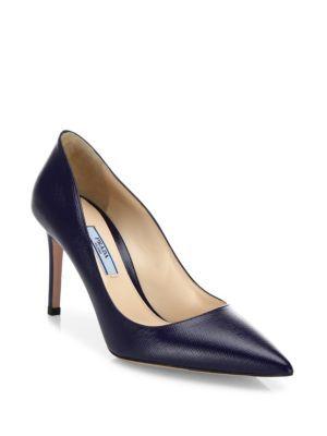 0ea2fc23c866 PRADA Saffiano Leather Point-Toe Pumps.  prada  shoes  pumps