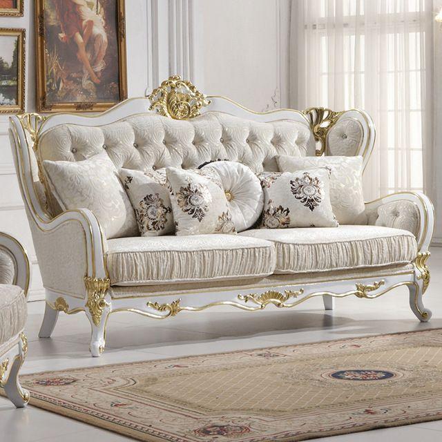 Venta al por mayor europa estilo clásico sofá de muebles de roble de ...