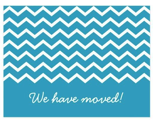 Trendy change of address moving announcement cards Blue postcards