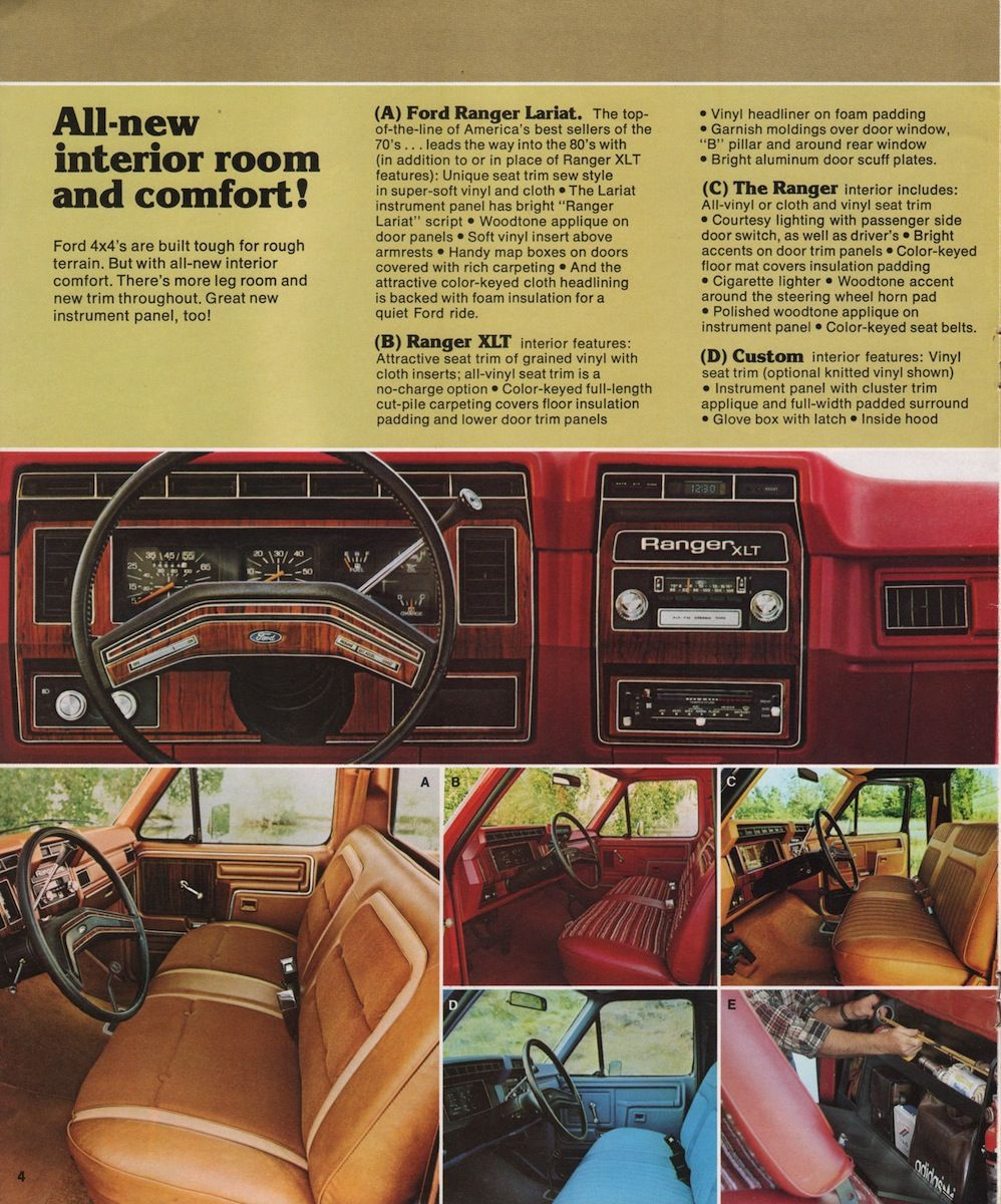 1980 Ford 4wd Pickup 04 Pick Up Del 46 Al 79 Pinterest Custom Interior