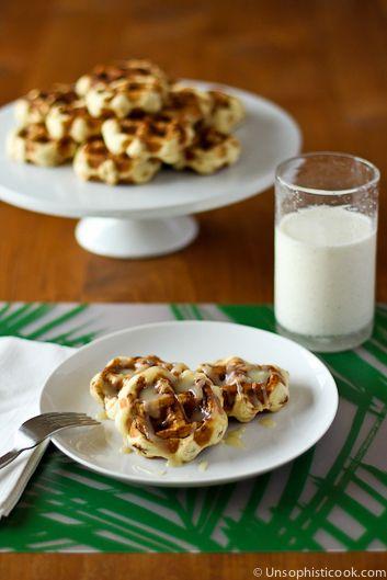 Easy Cinnamon Roll Waffles with Cream Cheese