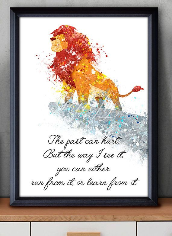Disney Lion King Watercolor Poster Print by GenefyPrints on Etsy
