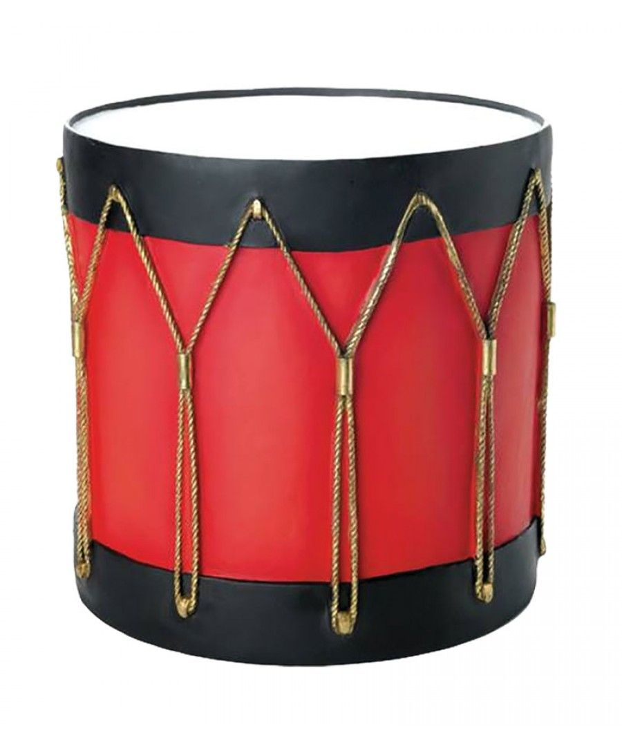 Christmas Drum Decor.24 Fiberglass Red And Black Drum Base 01 Staging 08