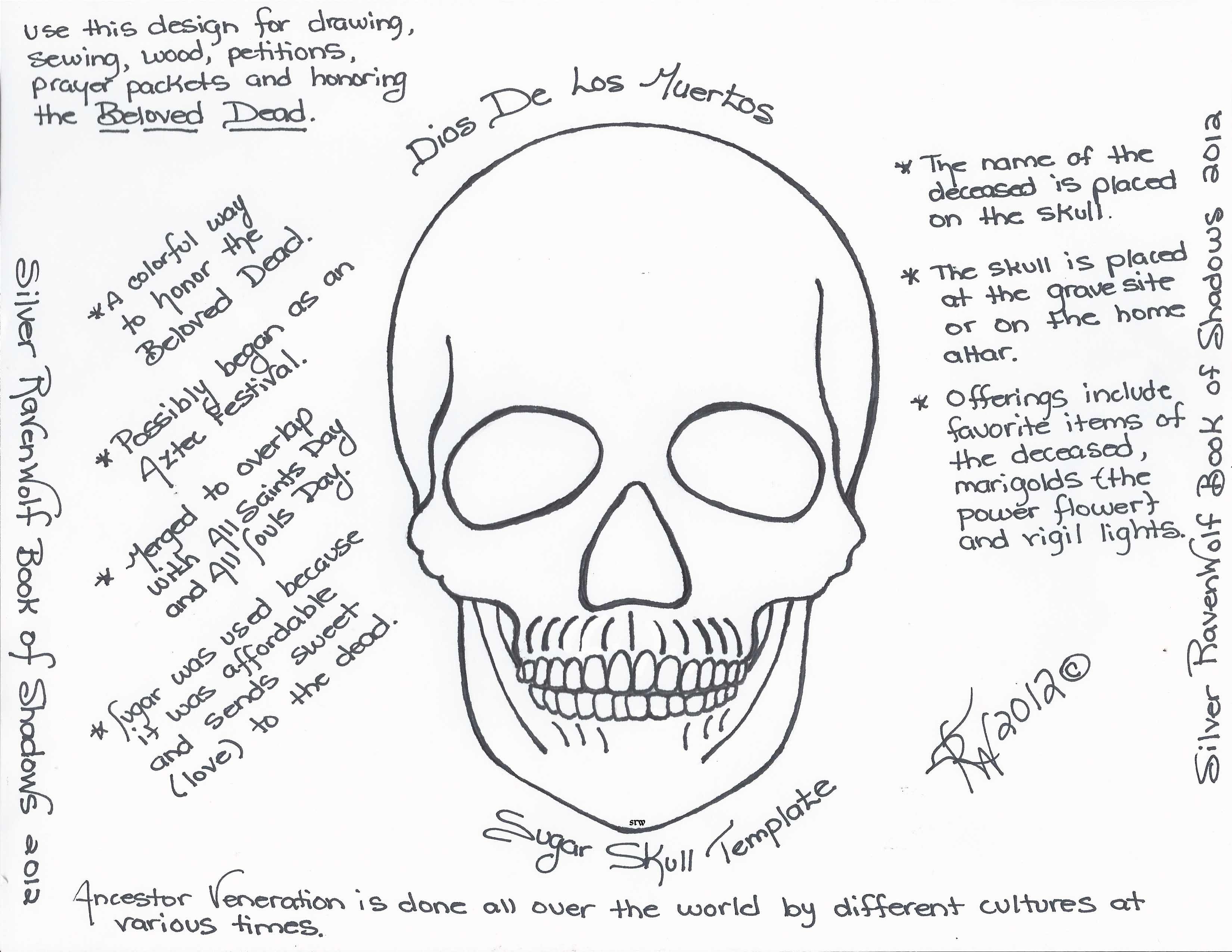 Magick notes dios de los muertos sugar skull template dios magick notes dios de los muertos sugar skull template pronofoot35fo Gallery
