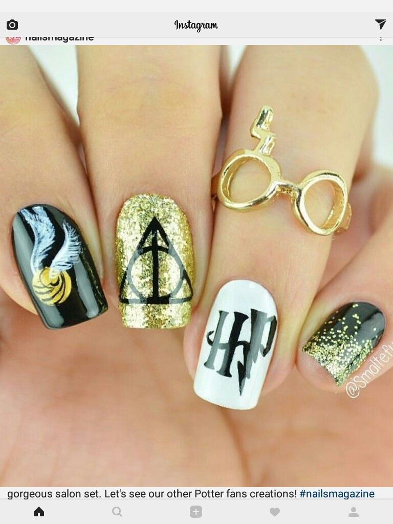Harry Potter Nail Vinyls Harry Potter Nail Art