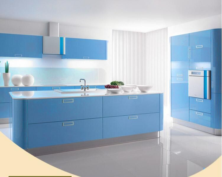 Glossy Wallpaper Pvc Kitchen Cabinet Furniture Kitchen Vinyl