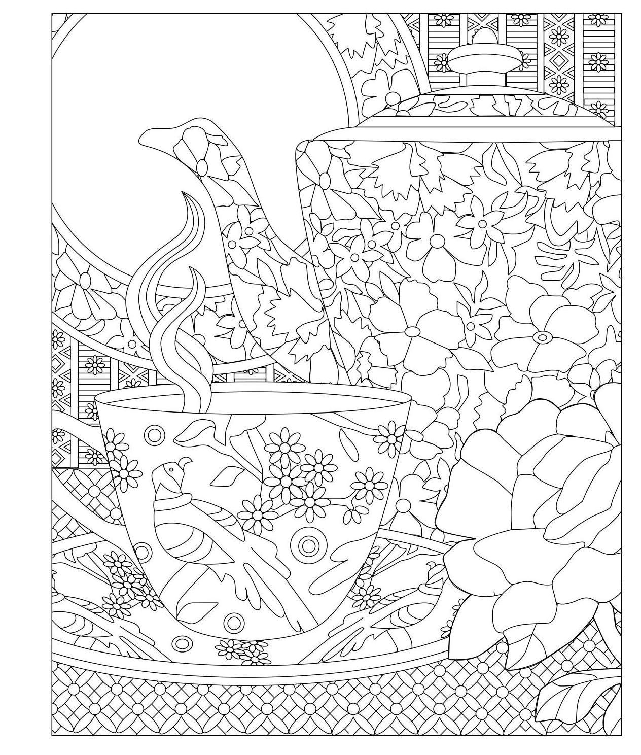 elegant tea party coloring book  coloring books coloring