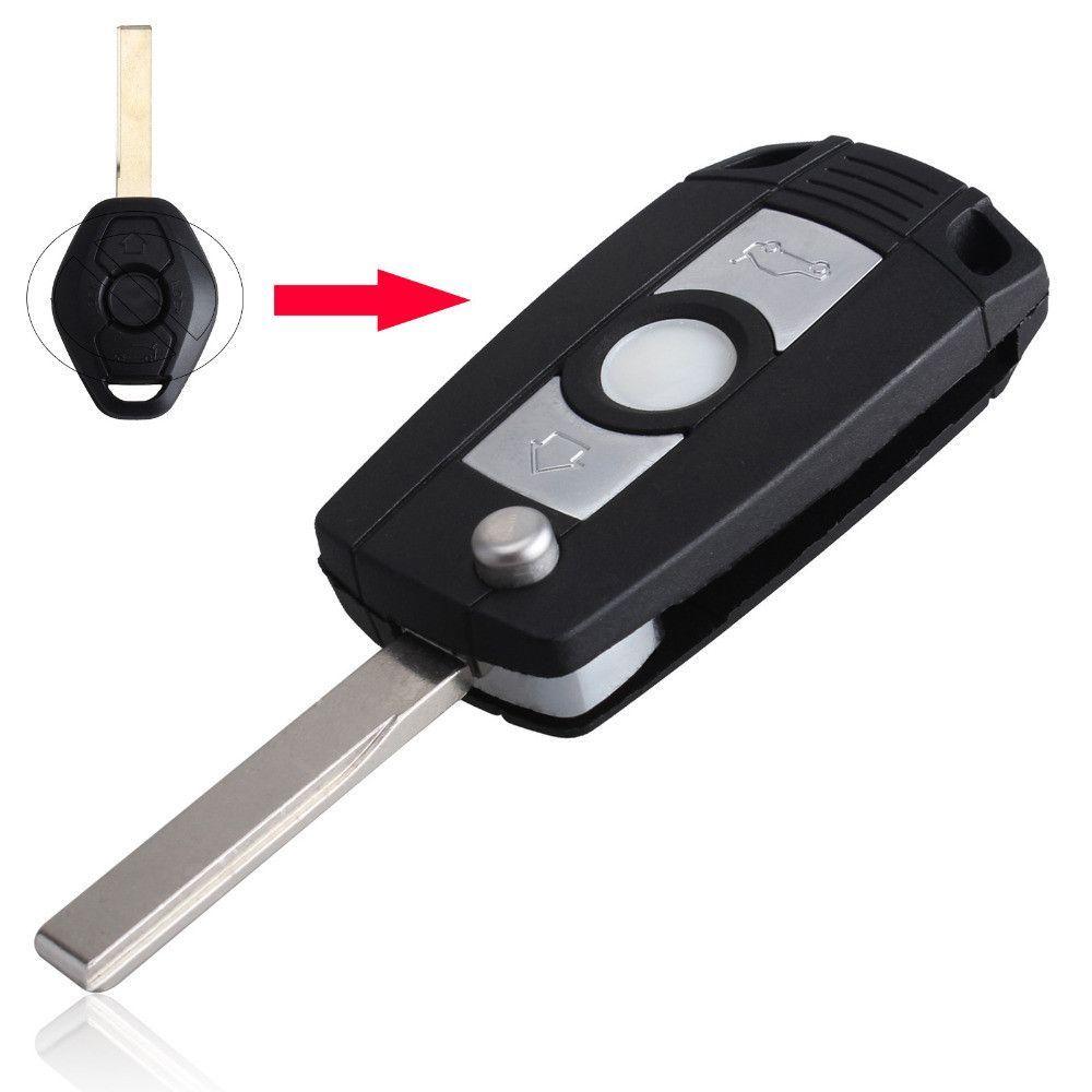 Flip Remote Key Shell Case Fob Refit for BMW 3 5 7 SERIES Z3 Z4 E38 E39 E46 HU92