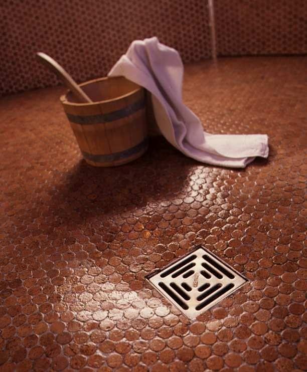 Cork Mosaic Tile For Floors Walls Bathroom Kitchen 1 Penny Round Tile Cork Flooring Sustainable Flooring Green Flooring