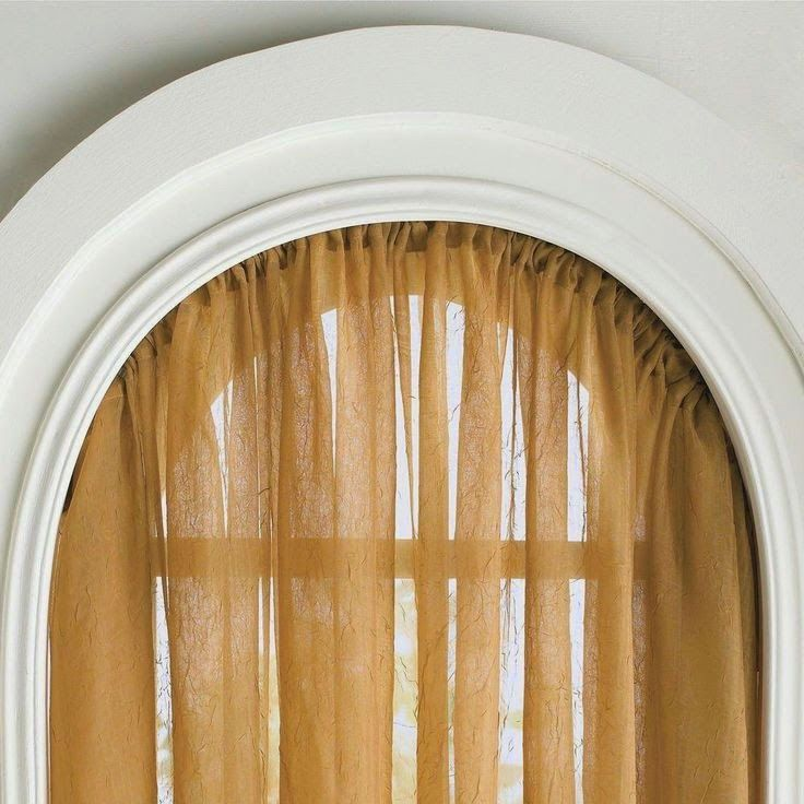 Curtain Ideas: Bendable curtain rods for arched windows | Curtain ...