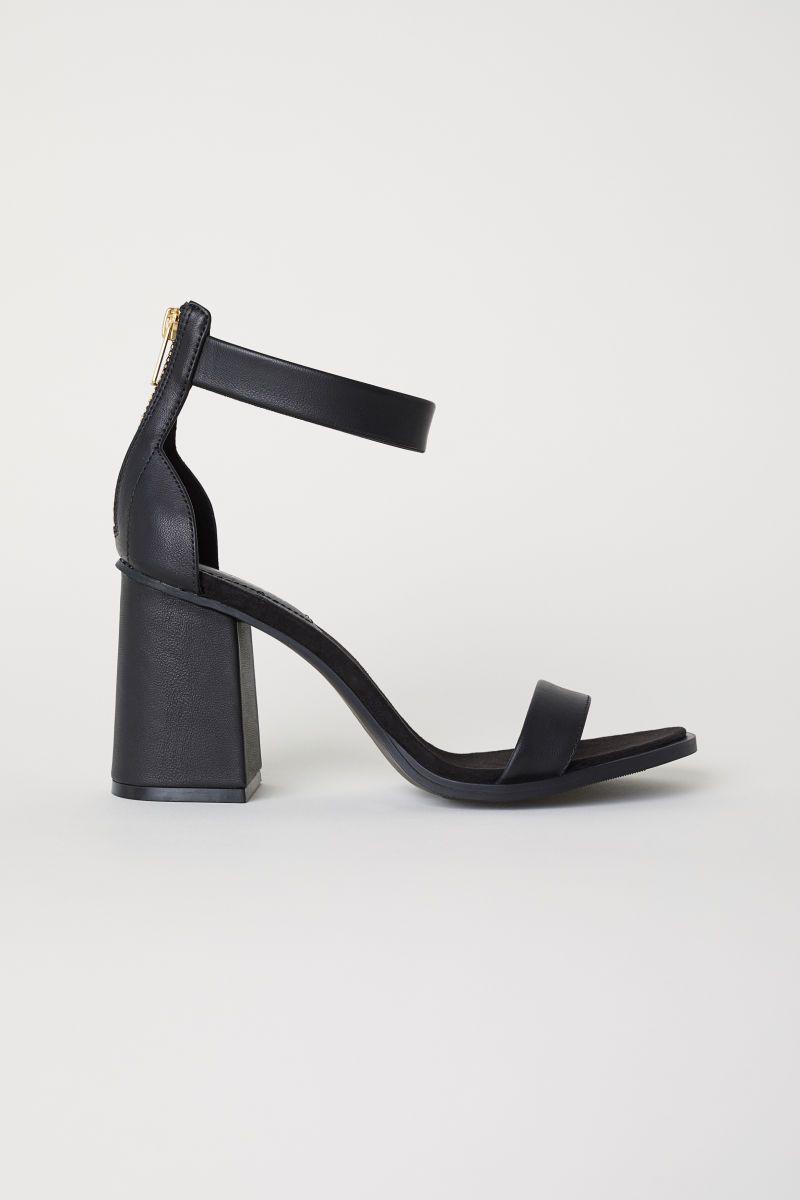 Block-heeled Sandals | Black | WOMEN