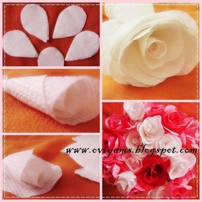Tissue paper roses oviyam glass painting art crafts tissue tissue paper roses oviyam glass painting art crafts tissue paper roses making mightylinksfo