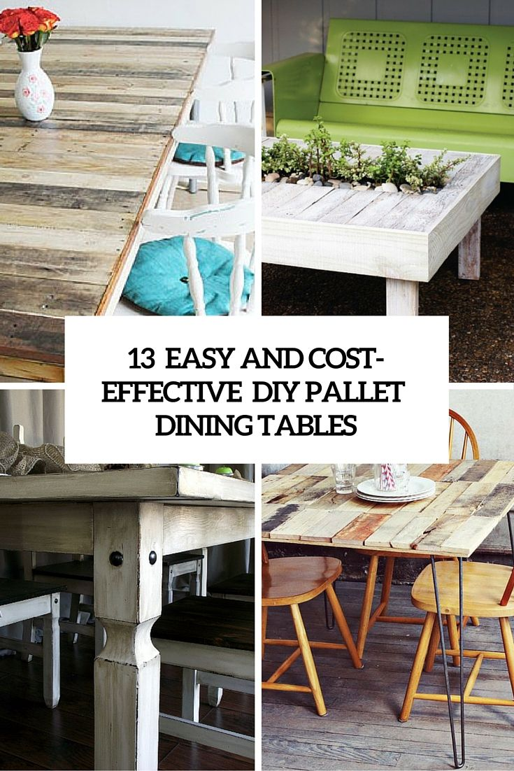 Easy And Cost Effective Diy Pallet Dining Tables Cover
