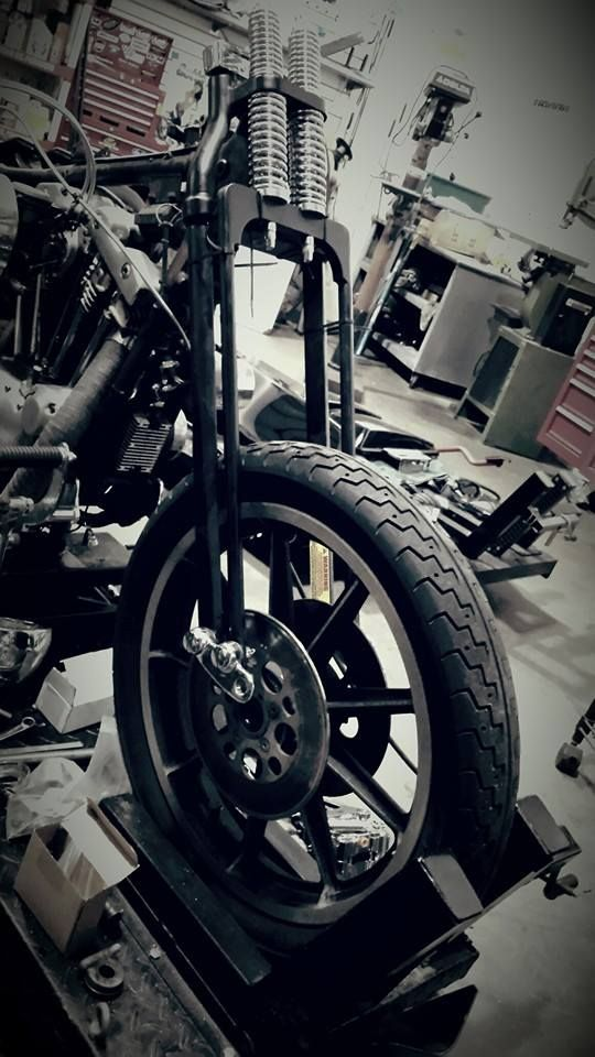 Changing the front end on an Ironhead Sportster - the person
