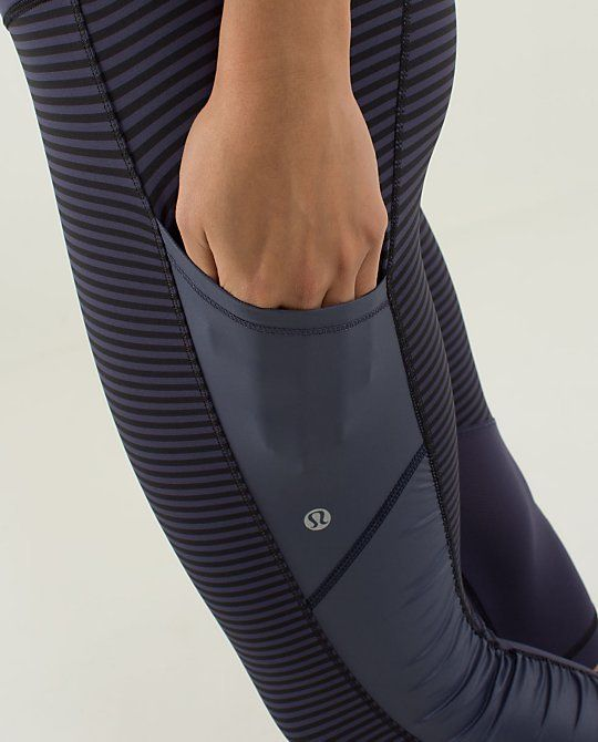 i love these leggings from lululemon with the side leg pockets...i would get plain black leggings though :)