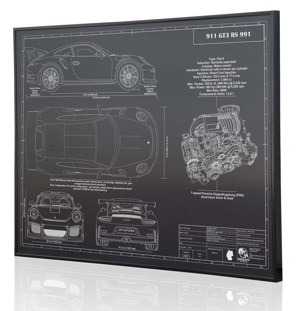 The Porsche Cayman Gt4 With Images Blueprint Art Signed