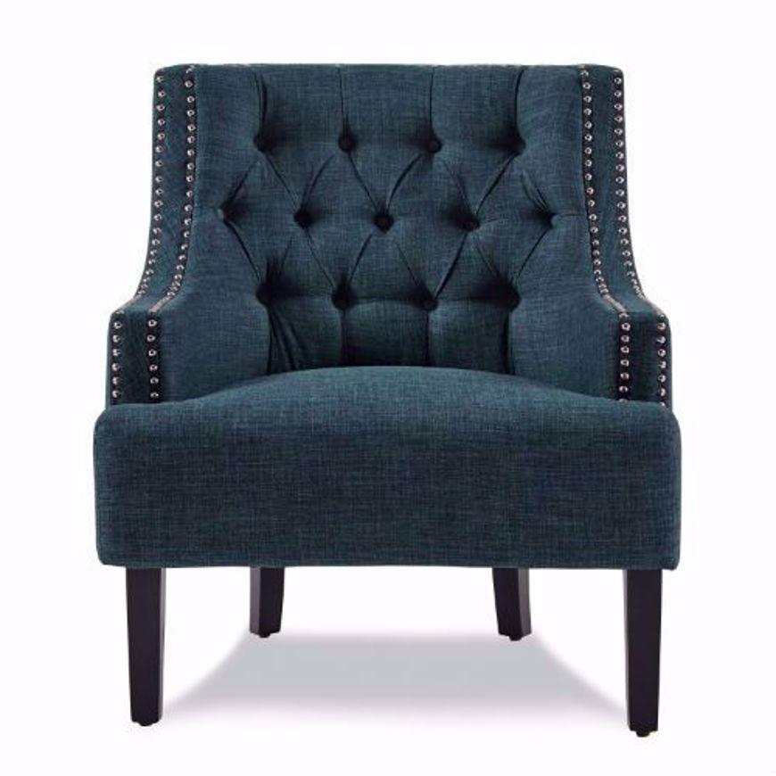 Jacey Indigo Swivel Accent Chair: Charisma Indigo Accent Chair