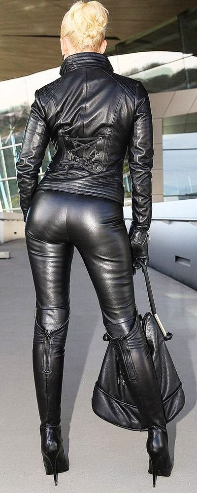 Head To Toe In Sexy Black Leather Cracking Leather