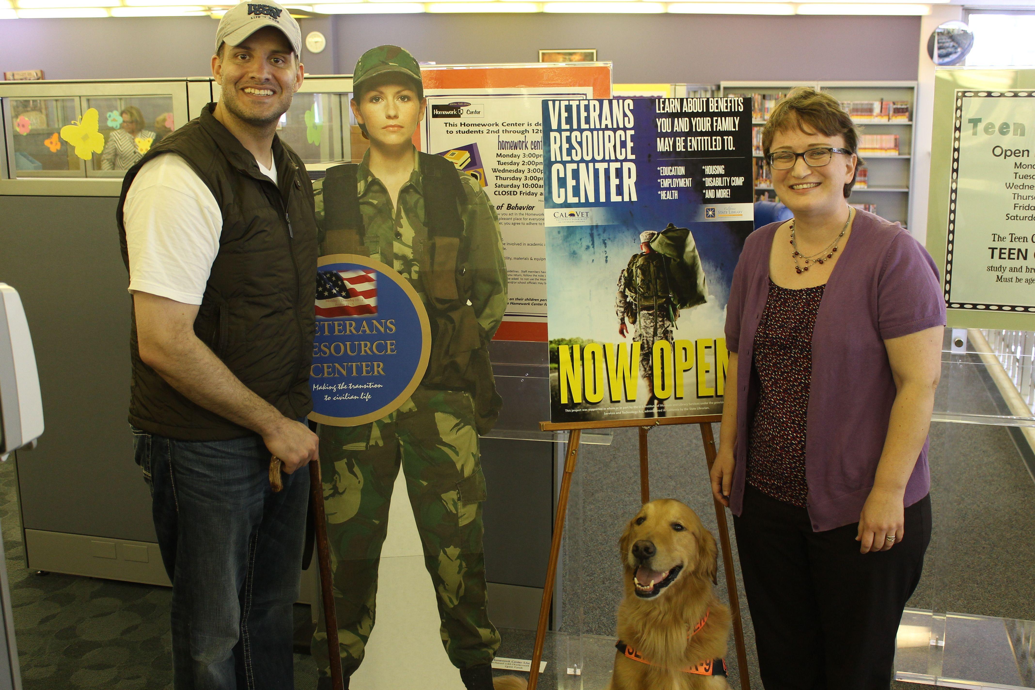 Through the Veterans Connect the Library project