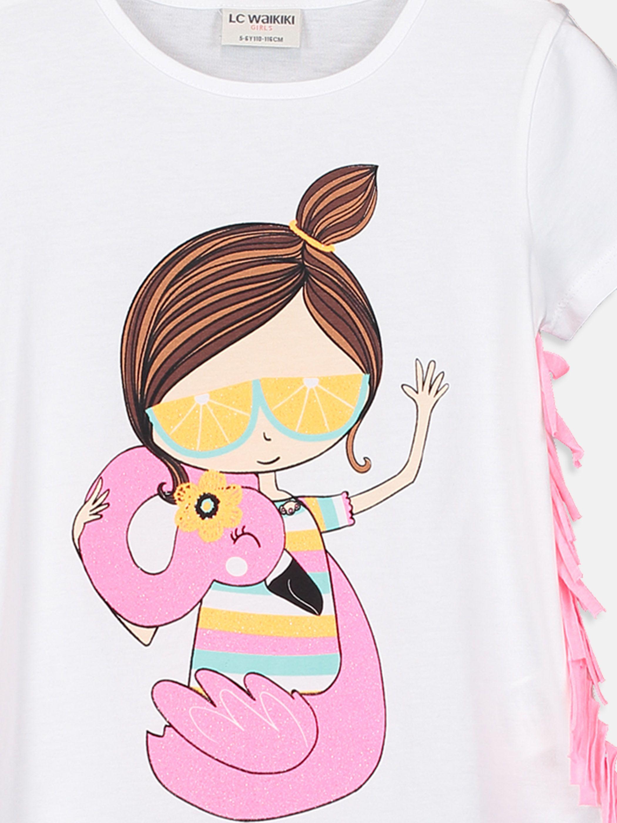 e37560adfbf Kız Çocuk Baskılı Pamuklu Tişört -9SI702Z4-FFB - LC Waikiki | summer ...