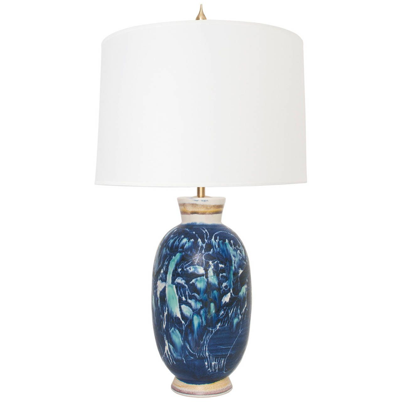 Swedish Unique Ceramic Table Lamp by Carl Harry Stalhane. 1