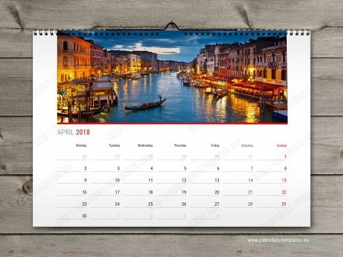 Year Calendar Horizontal Custom Calendar In Pdf Format