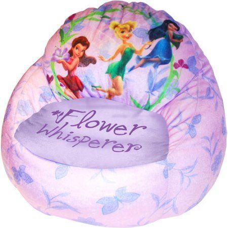 Awe Inspiring Disney Tinker Bell Fairies Bean Bag Pink Products Bean Customarchery Wood Chair Design Ideas Customarcherynet