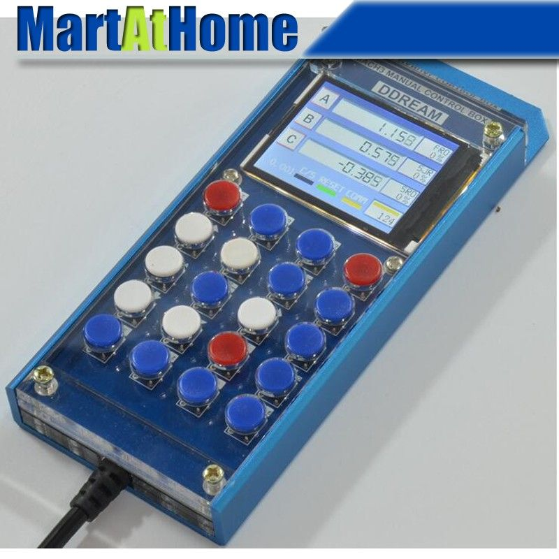 Free Shipping 6 Axis Digital LCD Mach3 Manual Control Box