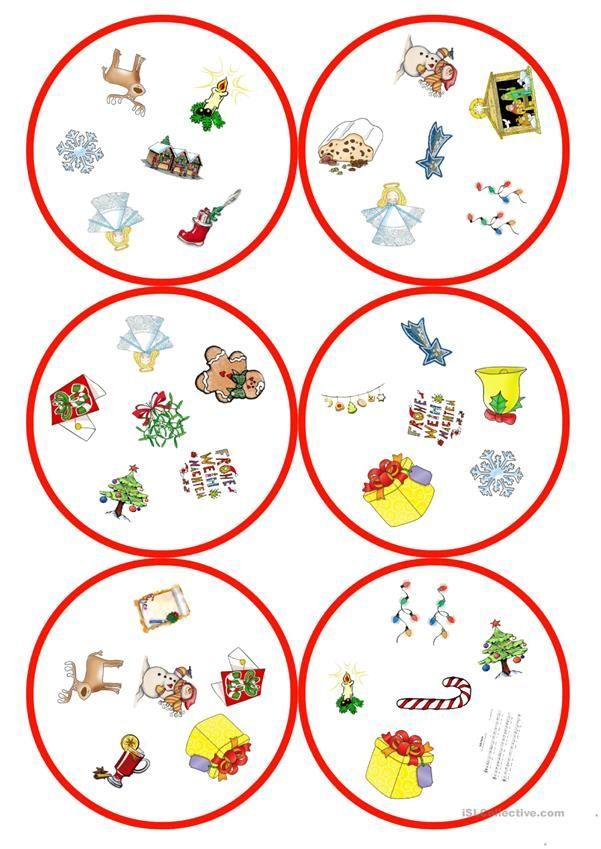 Spiele im Deutschunterricht: Dobble - Weihnachten (31 Karten / 6 ...