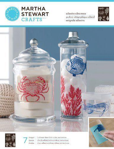 Martha Stewart Crafts Glass Silkscreen, Ocean #NotApplicable