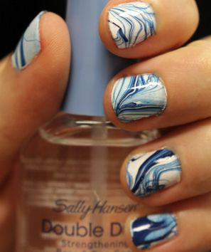 Swirled nail polish design okay maybe not so homemade but it do it yourself marble nails solutioingenieria Gallery