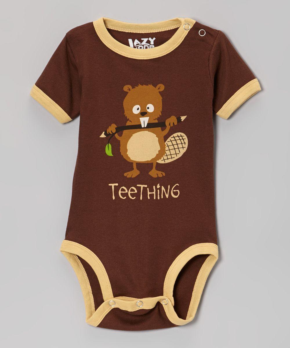 5ef37401ce98 Brown  Teething  Beaver Bodysuit - Infant