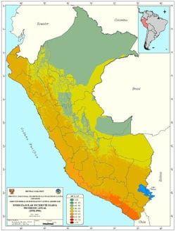 Altas Solar del Perú, Radiancia anual