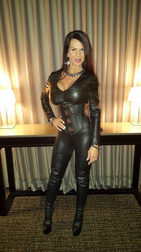 Mom sexy leather 14