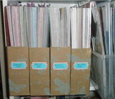 Great Way To Store 12x12paper Scrapmaster S Paradise Scrapbook Paper Storage Craft Paper Storage Paper Storage