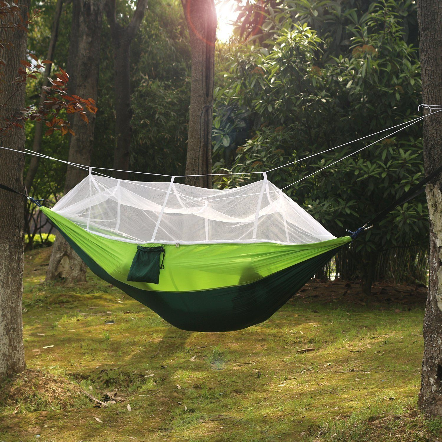 Carryon hammock mosquito net hammocknylon fabric travel portable