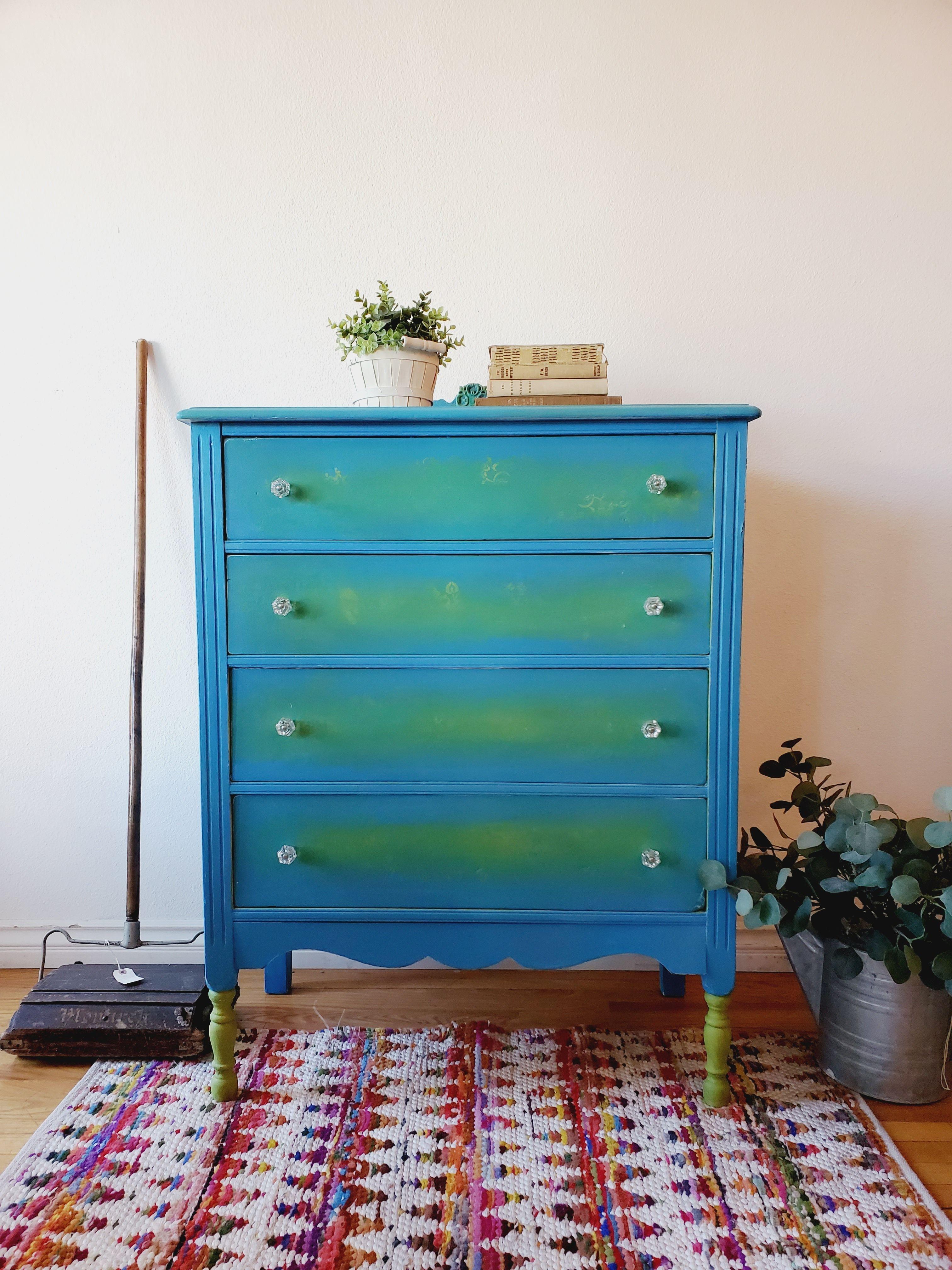 Vintage Dresser In 2021 Vintage Dressers Blue Dresser Beautiful Furniture [ 4032 x 3024 Pixel ]