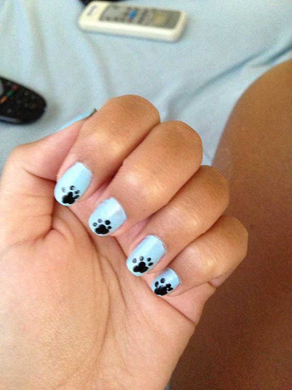 56 Ideas Para Que Pintes Tus Uñas Color Celeste Light Blue Nails