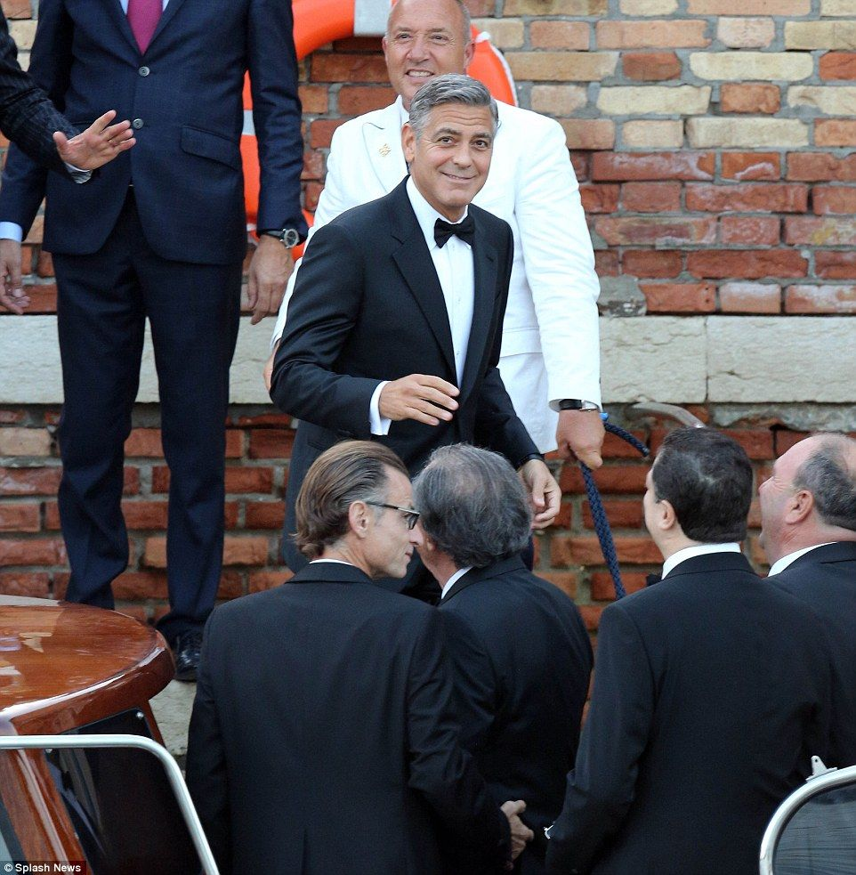 George clooney and amal alamuddin tie the knot in venice george