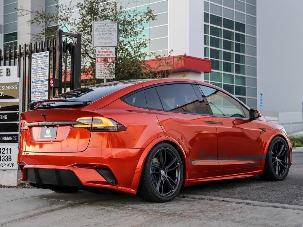 Tesla Exclusive On Instagram Modded Orange X Would You Do This